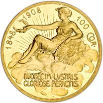 AUSTRIA GOLD 100 CORONA (1908-1915)