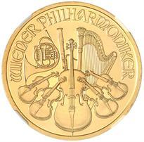 AUSTRIA GOLD 100 EURO VIENNA PHILHARMONIC - 1 OUNCE (2002-DATE)