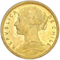 CHILE GOLD 20 PESO (1906-1917)