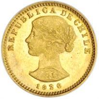CHILE GOLD 20 PESO (1926-1980)