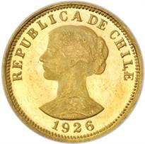 CHILE GOLD 50 PESO (1926-1974)