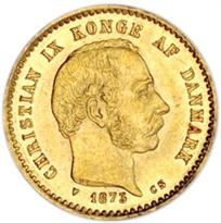 DENMARK GOLD 10 KRONOR (1873-1917)