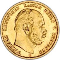 GERMANY, PRUSSIA GOLD 10 MARK (1872-1912)