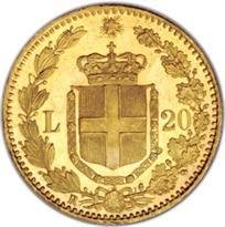 ITALY GOLD 20 LIRE (1861-1927)