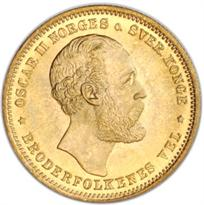 NORWAY GOLD 20 KRONOR (1874-1910)