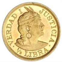 PERU GOLD 1/2 LIBRA (1898-1969)