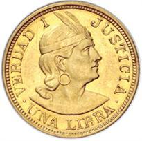 PERU GOLD 1 LIBRA (1898-1969)
