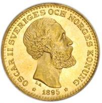 SWEDEN GOLD 10 KRONOR (1873-1901)