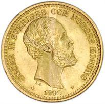 SWEDEN GOLD 20 KRONOR (1873-1902)