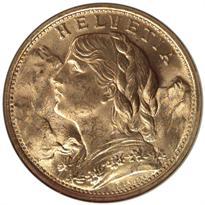 SWITZERLAND GOLD 20 FRANC (1897-1949)