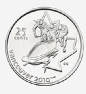 25 cents 2008 - Bobsleigh Elizabeth II
