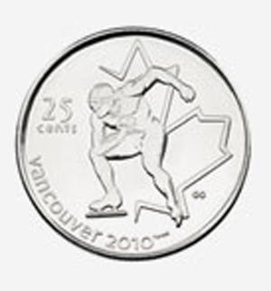 25 cents 2009 - Speed Skating Elizabeth II