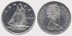 10 cents 1974