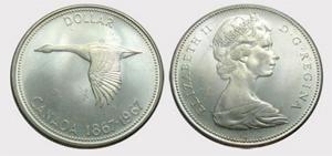 1 dollar 1967 - ↑↓ Coinage  Elizabeth II