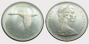 1 dollar 1967 - Double Struck Elizabeth II