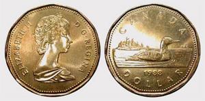 1 dollar 1987 - Voyageur  Elizabeth II