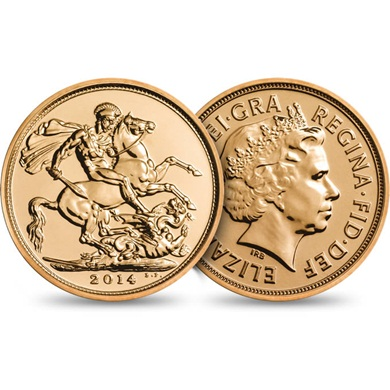The Sovereign 2014 Brilliant Uncirculated