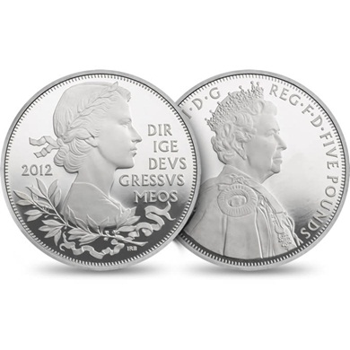The Queen's Diamond Jubilee UK Silver proof Coin