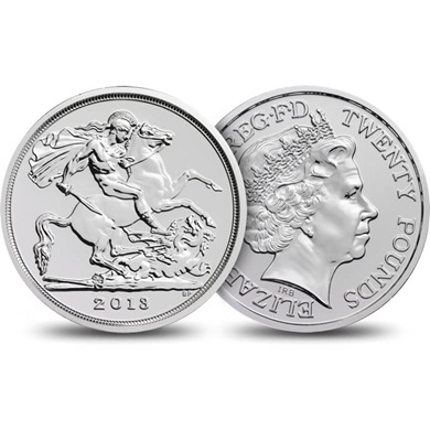 The St George and the Dragon 2013 UK Euro 20 Fine Silver Coin