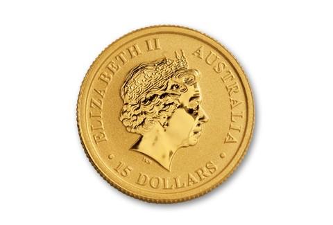 2017 Australia 15 Dollar 1 10 Oz Gold Kangaroo Bu