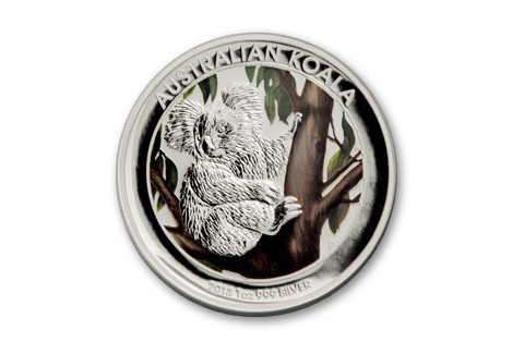 2013 Australia 1-oz Silver Outback Koala Colored BU