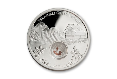 2013 Australia 1-oz Silver Treasures Locket Garnet Proof