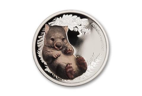 2013 Australia 1/2-oz Silver Bush Babies II Wombat Proof