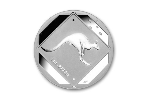 2013 Australia 1-oz Silver Kangaroo Road Sign BU