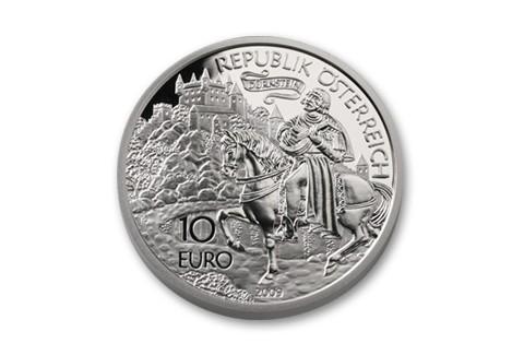 2009 Austria 10 Euro Slvr Richard The Lionheart Proof