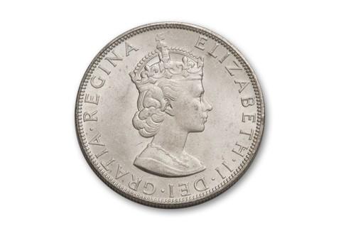 1964 Bermuda 1 Crown Silver Bu
