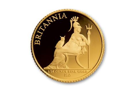 2013 Great Britain 1/20-oz Gold Britannia NGC PF69