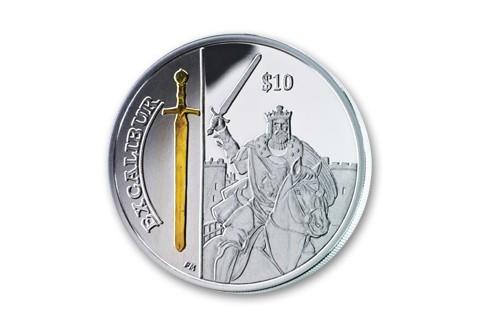 2013 British Virgin Islands 10 Dollar Excalibur Proof