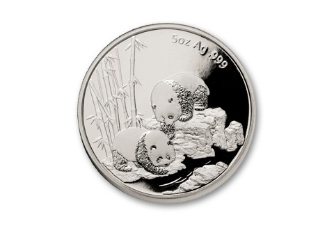 2013 China 5-oz Silver Panda Long Beach Medal NGC GEM Proof