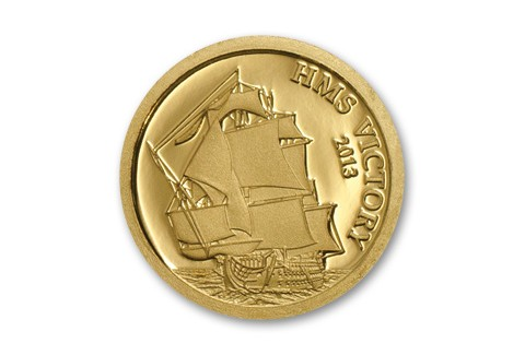 2013 Cook Islands 1 Dollar HMS Victory Proof