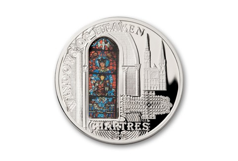 2013 Cook Islands 10 Dollars Silver Windows of Heaven Chartres Proof Like
