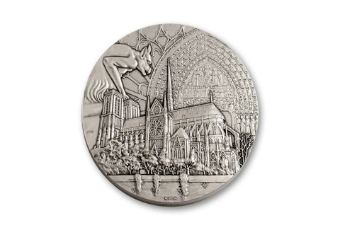 2013 France 850th Anniversary Notre Dame Medal