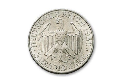 1930 Germany 3 Reichsmark Zeppelin F-VF