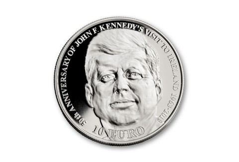 2013 Ireland 10 Euro Silver John F Kennedy Proof