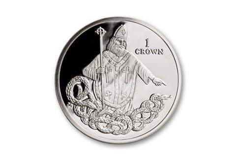 2013 Isle of Man 1-oz Silver Saint Patrick Snake Proof