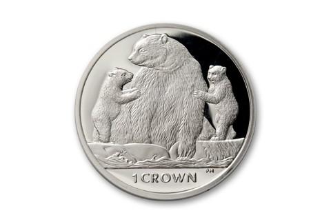 2013 Isle of Man 1-oz Silver Kermode Bear Proof