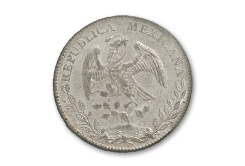 1867-1897 Mexico Silver 8 Reales Cap-Ray NGC MS62