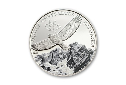 2013 Mongolia 1-oz Silver Golden Eagle Colorized Proof