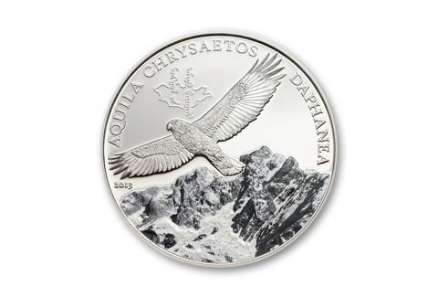 2013 Mongolia 1-oz Silver Golden Eagle Colorized Proof