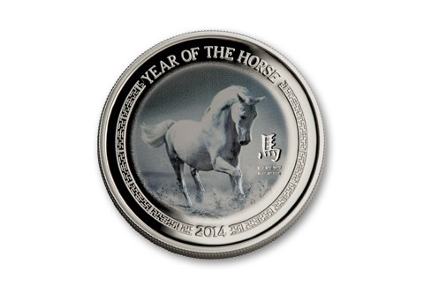 2014 Niue 1/2-oz Silver Year of the Horse Proof