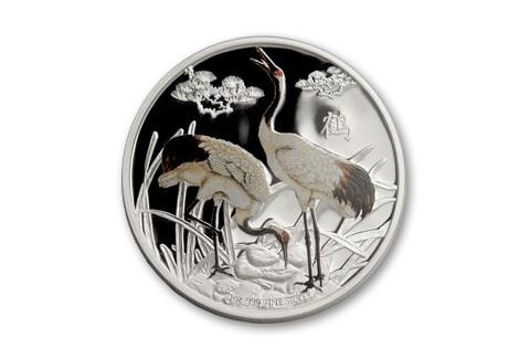 2013 Niue 1-oz Silver Feng Shui Cranes Proof