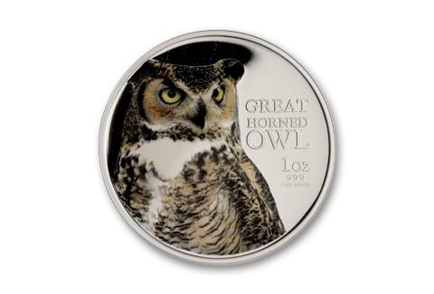 2013 Niue 1-oz Silver Birds of Prey Horned Owl Proof