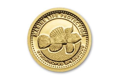 2013 Palau 1 Dollar Gold Mandarinfish Proof