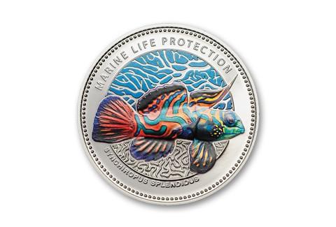 2013 Palau 5 Dollar Silver Mandarinfish Proof