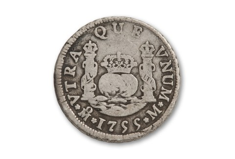 1732-1771 Spain Silver 2 Reales VG
