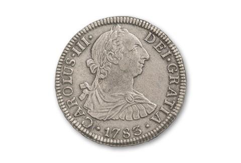 1783 Spanish 2 Reales NGC GENUINE El Cazador